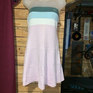 Lacoste Strapless Tube Top Tennis Dress Size 38 M